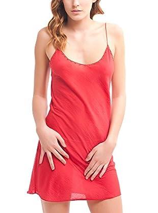 Mine de Rien Vestido Seda Easy Rojo S