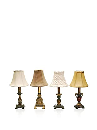 Artistic Lighting Set of 4 Library Lamps