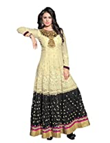 Adah Fashions Womens Georgette Anarkali Unstitched Dress Material (577-38012 _Cream)
