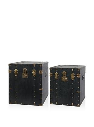 Set Of 2 Trunks (Black)