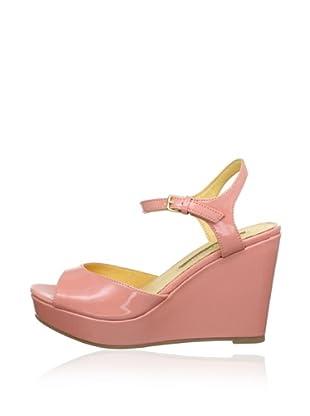 Buffalo London 312-4468 PATENT PU 143043 - Zapatos de pulsera  mujer (Rosa)