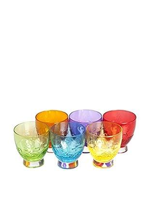 Molecuisine Glas 6er Set Santa Cruz 30 cl mehrfarbig