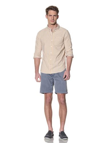 nüco Men's Woven Long Sleeve Shirt (Straw)