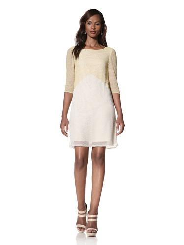 Dallin Chase Women's Sal Colorblock Beaded Dress (Nude W/Yellow)