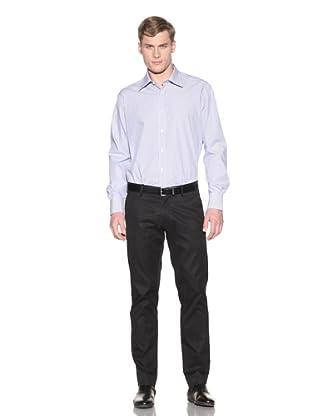 Valentino Men's Dress Shirt (Light Blue/White Stripe)
