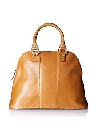 LaLucca Women's Rebekah Leather Satchel (Brown)