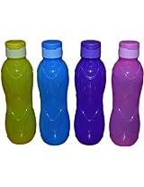 Cello Rugby Flip, Plastic Fridge Bottles,600 ml,Pack of 4,Assorted Colors