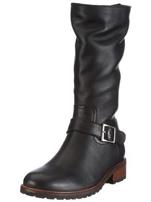 Buffalo London 13990 COW MILLED 121940 - Botas de cuero para mujer (Negro)