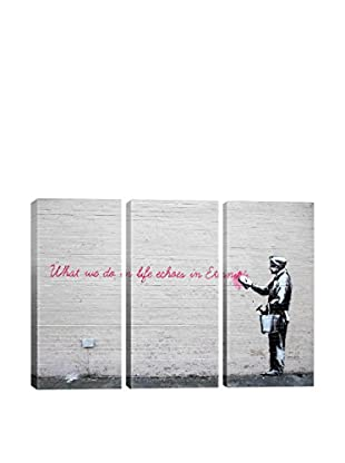 Banksy What We Do in Life Echoes in Eternity Gallery Wrapped Triptych Canvas Print