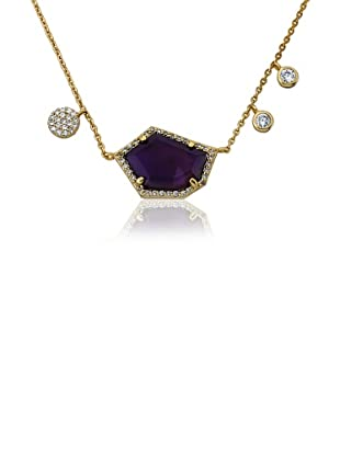 Riccova Amethyst & Cubic Zirconia Dangle Necklace