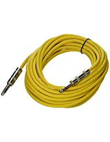 Seismic Audio - SATRX-25Yellow - 25 Foot Yellow 1/4 TRS Patch Cable - Balanced Cord - Effects