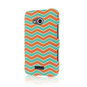 MPERO SNAPZ(TM) Series Rubberized Case for Samsung Galaxy Victory 4G LTE - Mint Chevron