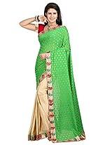 Vibes Women's Bhagalpuri Art Silk Saree,With Blouse (S54-VBK159_Green)