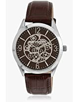 5127402 Brown/Brown Analog Watch Ted Lapidus