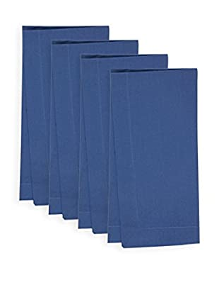 KAF Home Set of 4 Solid Napkins, Nordic Blue