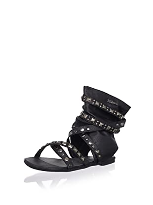 XTI Kid's Sandal with Wraparound Ankle Cuff (Black)