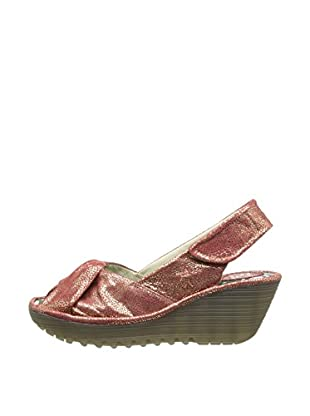 Fly London Sandalias Wedge (Rojo)
