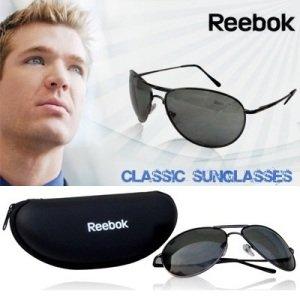 Reebok Aviator Green Lens Sunglasses-Brown