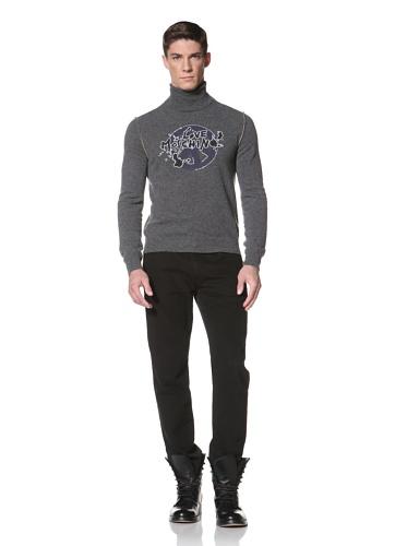 LOVE Moschino Men's Turtle Neck Sweater (Grey/Yellow)