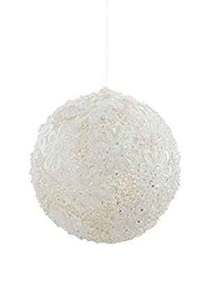 Winward Ice Lace Ornament, White/Clear, 6