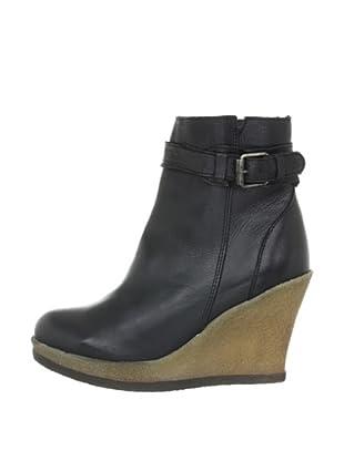 Buffalo London ES 30175 GARDA 139329 - Botines fashion de cuero para mujer (Negro)