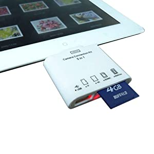 iPad3/iPad2/iPad用 5in1カメラコネクションキット USB/SDカードリーダー