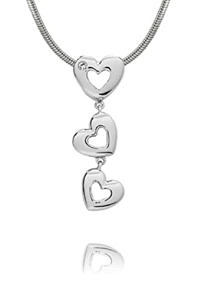 Secret Diamonds Anhänger (ohne Kette) Herz Silber Diamant Silber/weiß