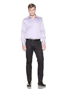 Valentino Men's Dress Shirt (Purple/White Stripe)