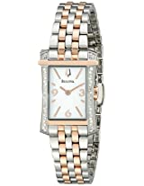 Bulova Analog White Dial Women's Watch - 98R186