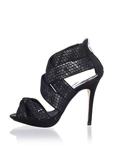 Bourne Women's Yasmin Ankle-Strap Sandal (Black)