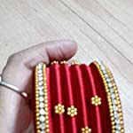 Red silkthread Traditional Bangle Set of 6