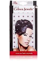 Mia Iron-On Crown Jewels, Purple, 1 Ounce