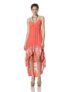 Gypsy 05 Women's Haley Hi-Low Ruffle Dress (Red)