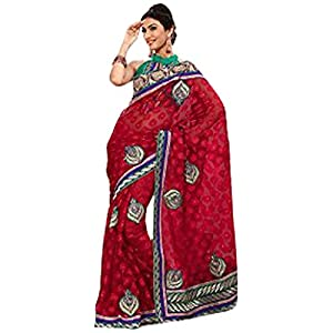 Melodic Red color Party Wear Saree