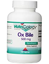 NutriCology Ox Bile - 500 mg - 100 Vegetarian Capsules