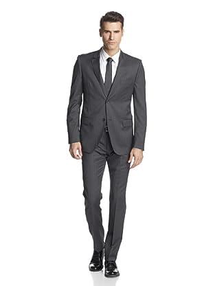 Calvin Klein Collection Men's Hudson Two Button Suit (Gotham Grey)