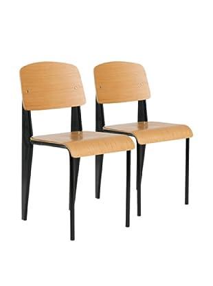 Aeon Furniture Set of 2 Sally Chairs, Black