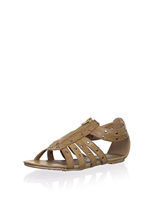 XTI Kid's Front Zip Sandal (Taupe)
