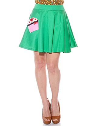 Divina Providencia Falda Pastel (Verde)