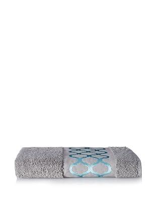 Anali Tangier Bath Towel, Turquoise/Grey