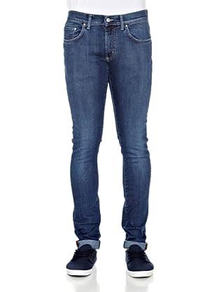 Carrera Jeans Pantalón Denim Stretch 12 Oz (Azul Medio)