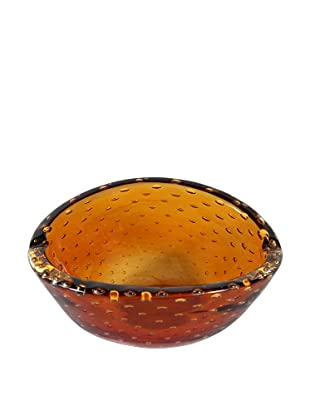 Mid-Century Glass Ashtray, Amber, Brown