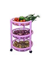 Princeware Maria 3 Rack Big Trolley, Pink