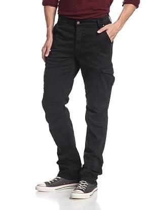 Rockstar Denim Men's Twill Cargo Pants (Vintage Black)