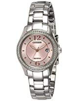 Citizen Analog Pink Dial Women's Watch - FE1140-51X
