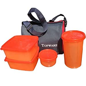 Topware Lunch Box With Insulated Bag (4 Pcs)
