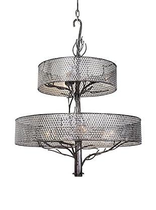 Varaluz Treefold 9-Light Chandelier, Steel