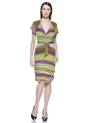 Etincelle Vestido Froncee Mission (Multicolor)