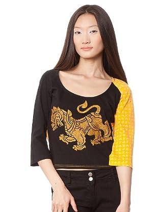 Custo Camiseta Kars (Negro / Amarillo)