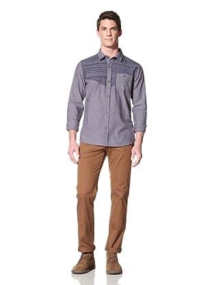 Zanerobe Men's Native Long Sleeve Woven Shirt (Navy)